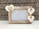 Shabby personalised Chic Photo Frame In Memory Of Dad ~ Father ~ Daddy Any Name - 253965296624